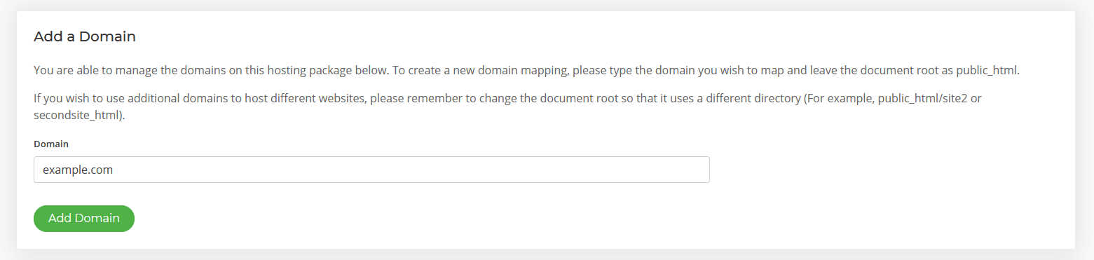 Add additional domains