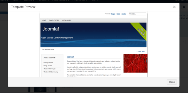 Joomla cms default free website template