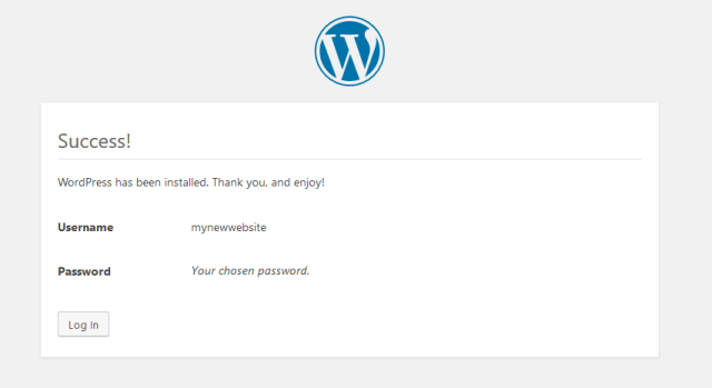 WordPress Installed Umbrella Host