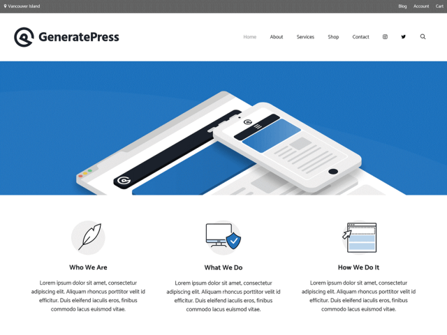 generatepress free wordpress theme