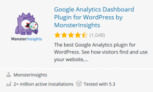 monster insights wp plugin