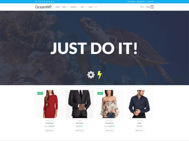 oceanwp wordpress free theme