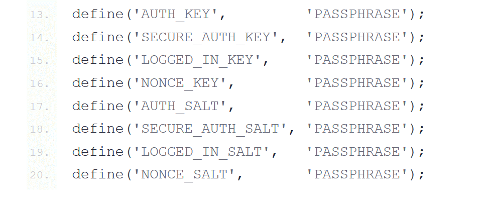 generate wordpress salt keys